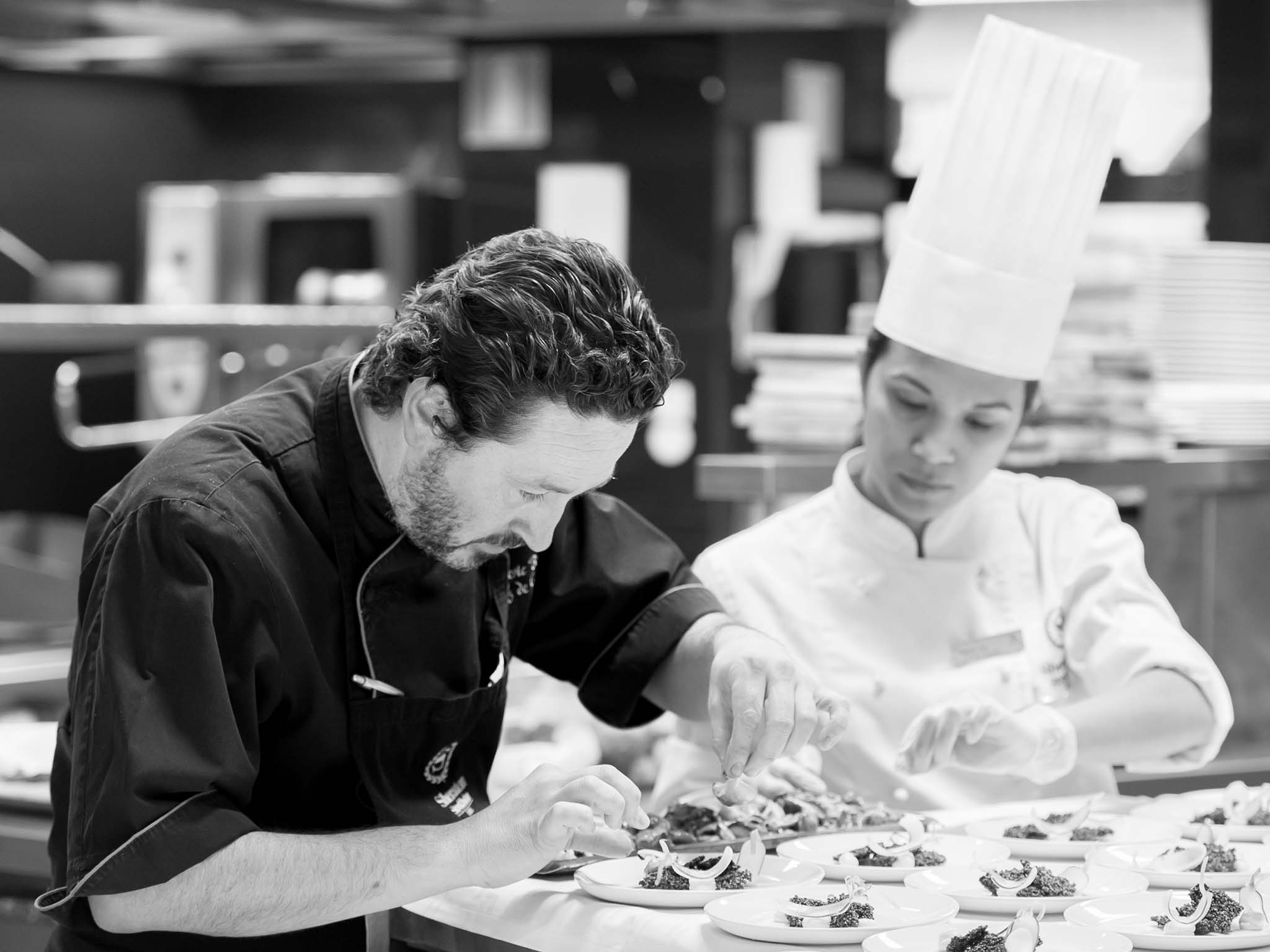 Our Executive Chef Frederic Bertuit is of French roots.