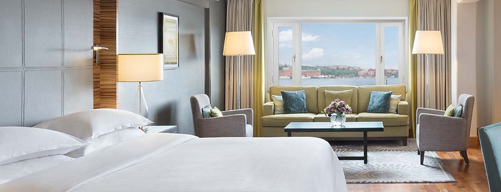 Superior suite overlooking Stockholm City Hall and Lake Mälaren