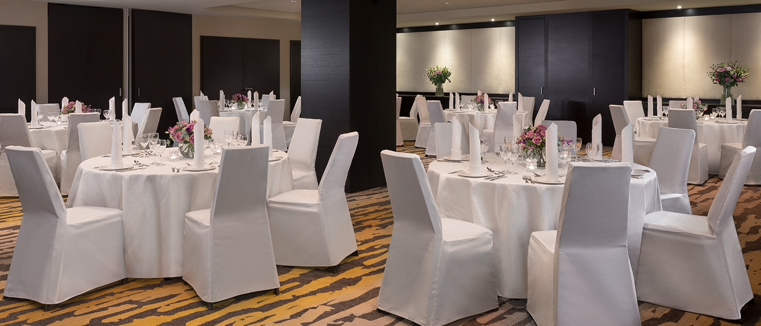 Our popular Gripsholm room in dinner setup.